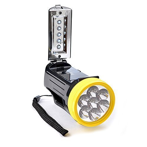 Electralight Lantern Torch With Batteries - Black -  12 led lantern torch light bright compact camping hiking interchangeable super