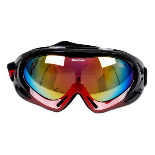 Snow Goggles Windproof Eyewear Ski Sports Goggle Protective Glasses Black/Red