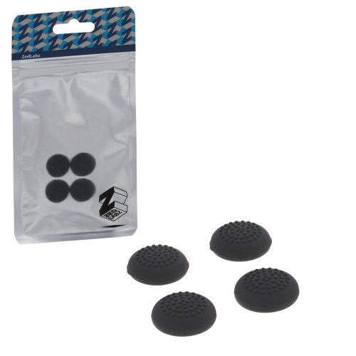 ZedLabz dotted silicone thumb grip stick caps for Nintendo Switch joy-con controllers - 4 pack black