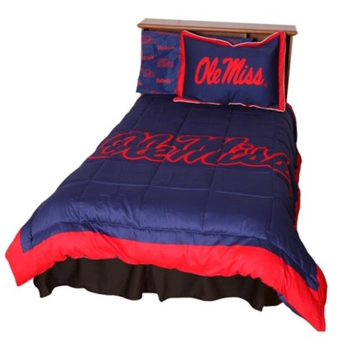 College Covers MISCMTW Ole Miss Reversible Comforter Set - Twin