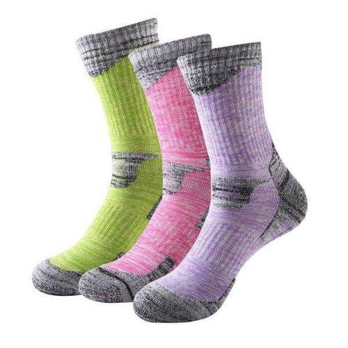 Women Skiing Socks Outdoor Snowboarding Hiking Socks Winter Warm Socks