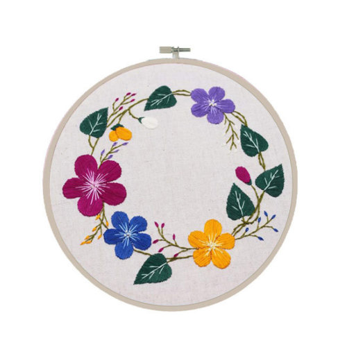 Embroidery Flower Kit Hand Embroidery Gifts Also Home Decor