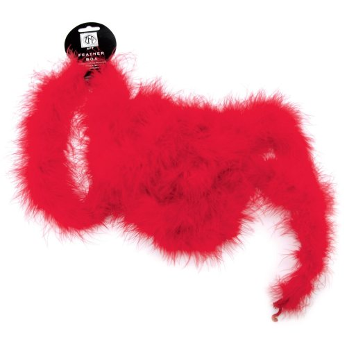 "Zucker Marabou Feather Boa Solid Color Medium Weight 72""-Red"