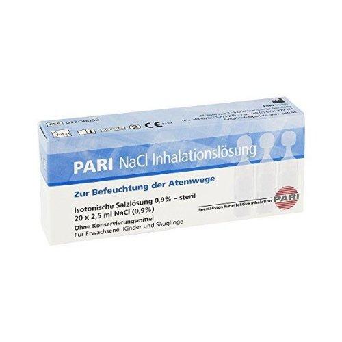 Pari NaCl Inhalation Solution Ampoules 20 X 2.5 ml