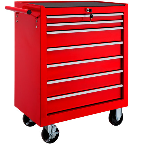Tool chest with 7 drawers red