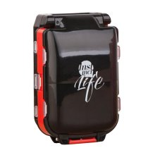 Black and Red Travel Pills Carrying Case