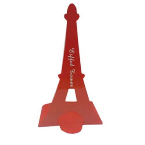Set of Two Paris Tower & London Tower Iron Tower Nonskid Bookends Red