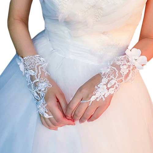 Bridal Wedding Gloves Party Dress Lace Short Gloves B03