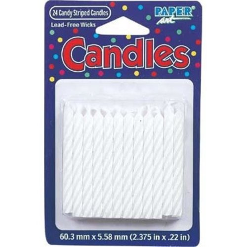 Bulk Buys Birthday Candle White 24 Ct - Case of 12