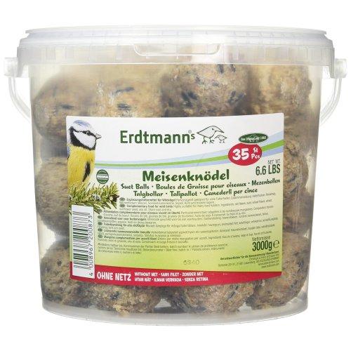 Erdtmanns No-Net Suet Balls in Tub, Pack of 35