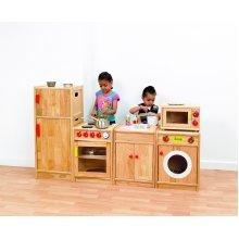Childrens Wooden 5 Piece Kitchen Set (72215) - Nursery/Early Years