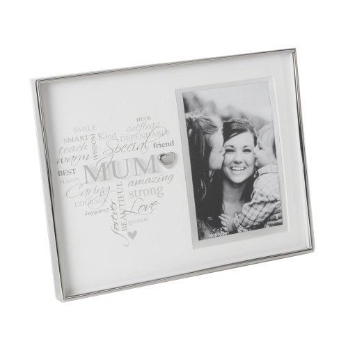 Heartfelt Moments Nickel Plated Frame Heart 4x6 Mum