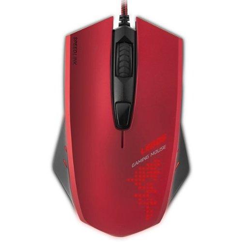 SPEEDLINK Ledos 3000dpi Optical Gaming Mouse, Red (SL-6393-RD)
