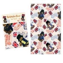 Official Paddington Bear London Collage Scenes Tea Towel Souvenir Gift Licenced Union Jack Bus Taxi