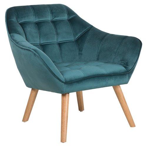 Wondrous Velvet Armchair Teal Blue Karis Lamtechconsult Wood Chair Design Ideas Lamtechconsultcom
