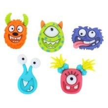 Mad For Monsters - Novelty Craft Buttons & Embellishments by Dress It Up