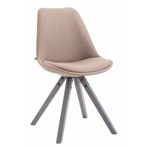 Visitor chair Toulouse substance Square gray