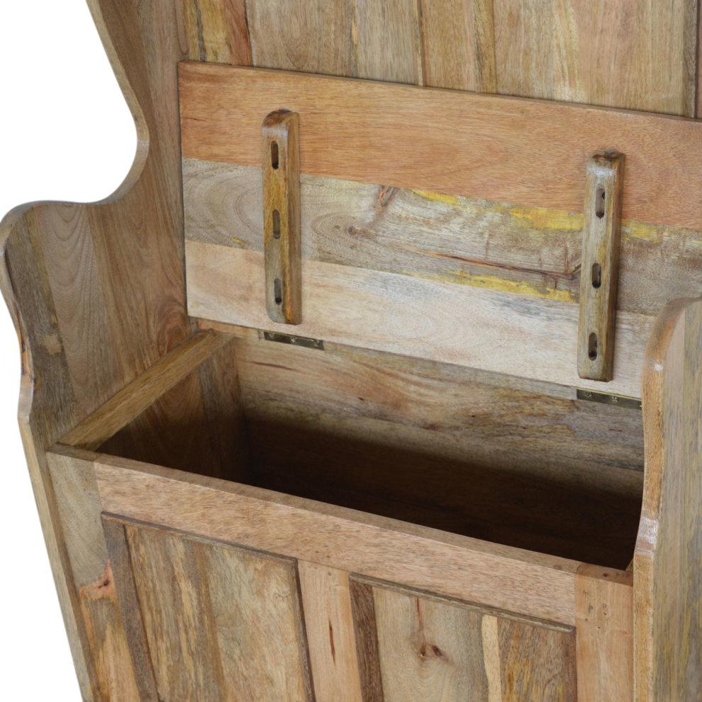 Small Hallway Storage: Small Wood Storage Hallway Monks Bench On OnBuy