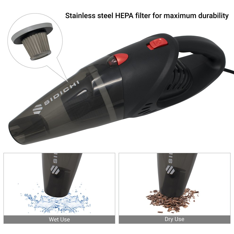 Sidichi Car Vacuum Cleaner Electric 12v 120w Portable And Ful Handheld Valeting Hoover Kit For