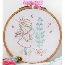 "Charles Craft/Tamar Embroidery Kit 8""X8""-Shy Fairy"