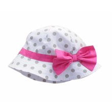 Summer Baby Girl Caps Cotton Sun Hat For 2-3 Years Baby White Big Wave Point