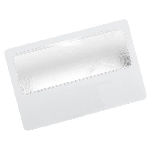 Handy Pocket Credit Card Size Magnifying Card Slim Reading Lens (1 Card)