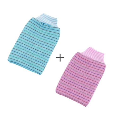 Rubbing Towel Strong Rubbing Mud Adult Thickened Double Rubbing Gloves?Stripe?