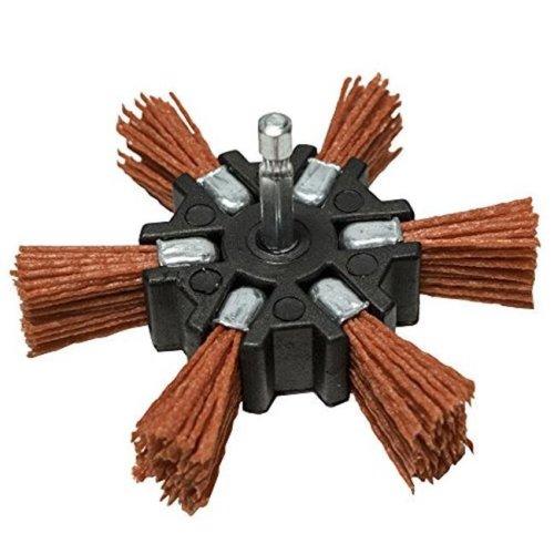 Century Drill & Tool CY77341 4 in. Coarse Nylon Flap Hex Shank Brush
