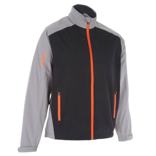 ProQuip Golf Mens Aquastorm PX1 Waterproof Rain Jacket Full Zip Grey/Black/Orange 3X-Large