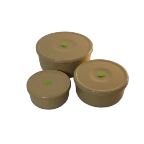 OLPRO Husk Husksware Round Container Storage Set (3 pack)
