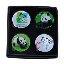 4 Pieces Crystal Chengdu Panda Refrigerator Magnets Kitchen Magnets