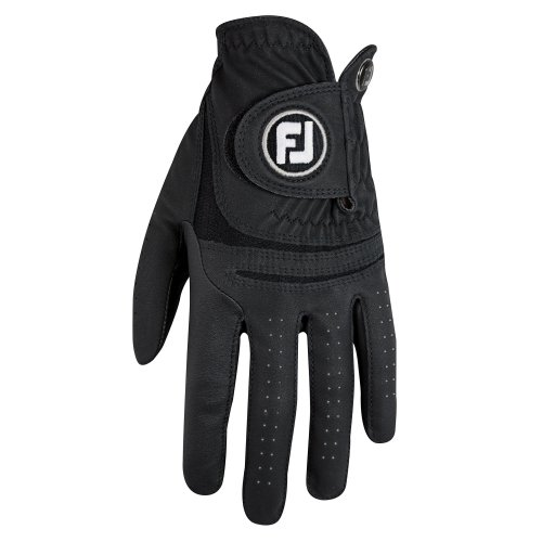 FootJoy WeatherSof Golf Gloves, Black, M - pack of 2