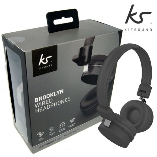 KitSound Headphones On Ear Brooklyn Wired