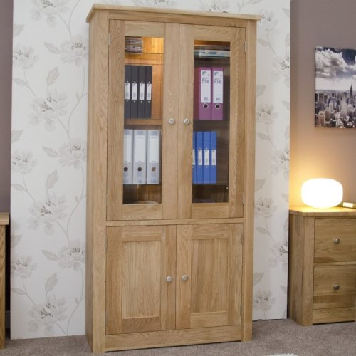 Homestyle Torino Solid Oak Furniture Library Display Unit