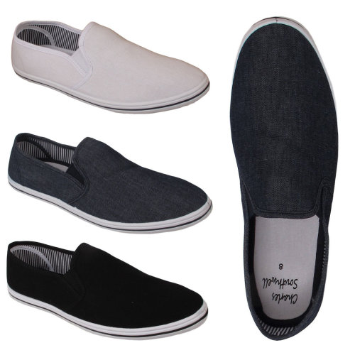 Mens Comfort Slip On Espadrille Pumps Shoes