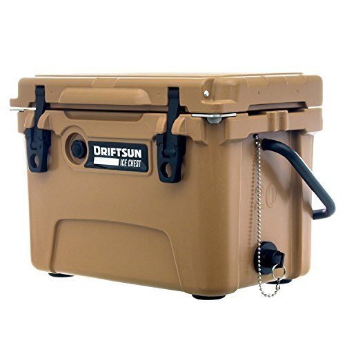 Driftsun 20 Quart Ice Chest Heavy Duty High Performance Roto Molded Commercial Grade Insulated Cooler Tan