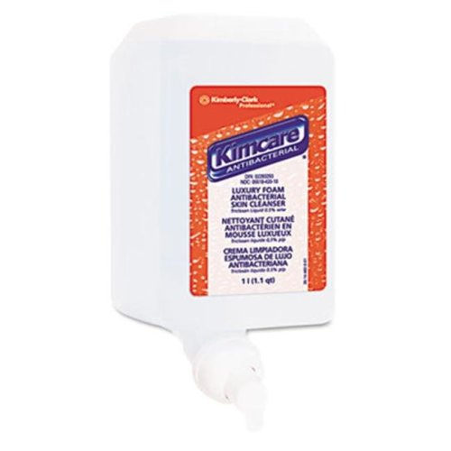 Kimberly-Clark 91554 KIMCARE Antibacterial Skin Cleanser Refill  Fresh Foaming  1000ml