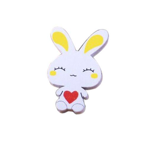 Creative Office Item/Lovely Heart Rabbit Series Pushpins/20 Piece