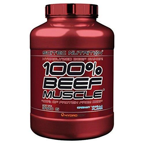 Scitec Nutrition 100% Beef Muscle Protein Powder - 3180g, Creamy Vanilla