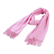 Stylish Cashmere Shawl Luxurious Pashm Tassel Soft Warm Scarf Pink