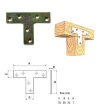 SECURIT S6712 CORNER BRACES BRACKET ZINC PLATED 40mm FOUR IN PACK