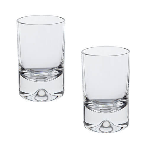 Dartington Dimple Shot Glass, Clear, Pack of 2
