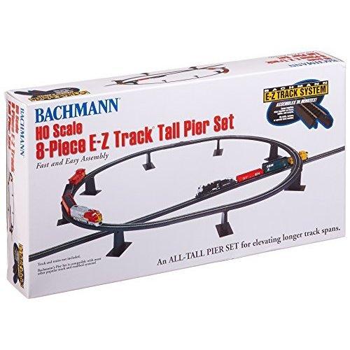Bachmann Trains 8 PC E Z TRACK Tall Pier Set