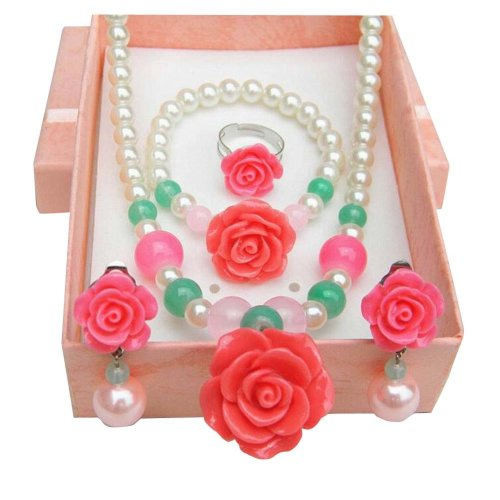 Lovely Girl Artificial Jewelry Set with Box