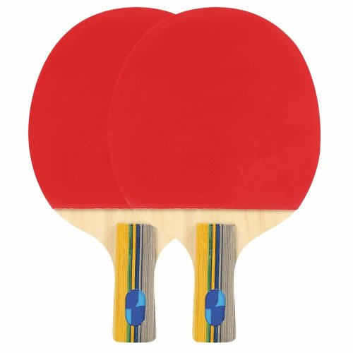 Table Tennis Bats Set, Ping Pong Paddle Set Ideal Gift Starter Pack for Beginner to Advanced Players
