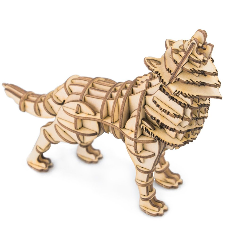 ROLIFE 3D Wooden Puzzles with Laser Cutting Animal Handcraft Models  Assemble Engineering Toys For Kids-Best Present for Birthday Festival