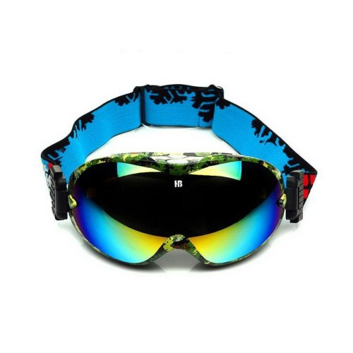 Cool Ski Goggles Colorful Coated Lens Dual-layers Snowboarding Goggles for Adult