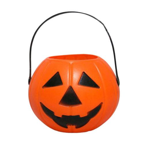 2PCS Trick Or Treat Pumpkin Halloween Party Decor Children Prop Candy Storage-A2