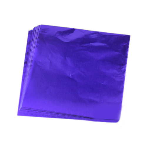 100pcs Handmade Aluminum Foil Packaging Paper Candy Chocolate Thick Wrappers- Purple