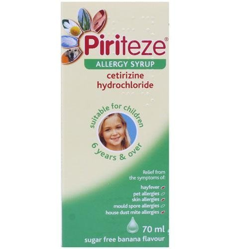 Piriteze Once-A-Day Allergy Syrup 70ml